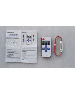 10 keys RF remote solo single color LED controller