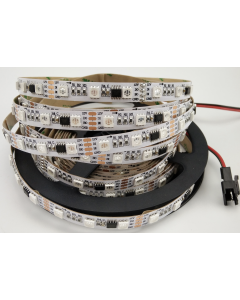 12V 5 meters 300 LEDs IP20 non-waterproof WS2818 integrated programs RGB 5050 LED strip