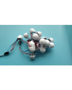 30mm A type 12V 20 nodes WS2811 addressable programmable RGB 5050 LED point pixel light