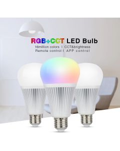 FUT012 E27 MiLight 9W RGB+CCT LED bulb