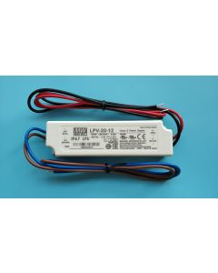 IP67 level Mean Well LPV-20-12 constant voltage output single output power supply LED driver