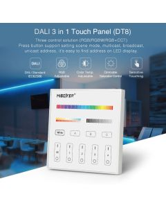 MiBoxer DP3S MiLight DALI 3 in 1 touch panel DT8 type LED controller