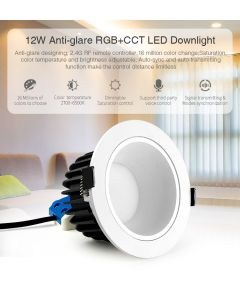 MiBoxer FUT071 MiLight anti-glare 12W RGB+CCT LED ceiling downlight
